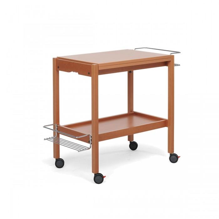 Складной сервировочный столик на колесиках Newton-Орех