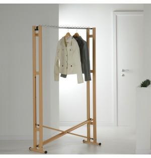 Деревянная напольная вешалка для одежды Snake 90